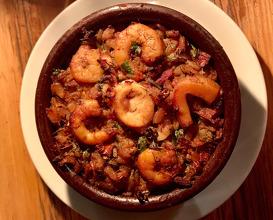 Seafood rice cake