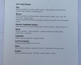 Dinner at ENT Restaurant