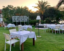 Dinner at Casa Dell'Arte Hotel of Arts & Leisure Bodrum, Turkey
