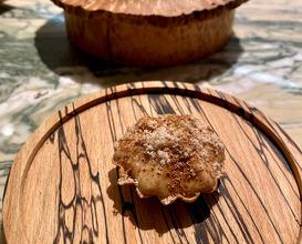 Cep tart, malt pastry