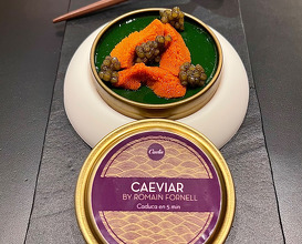 Sea urchin, dill and caviar