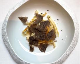 Pasta, sea cucumber, egg & truffle