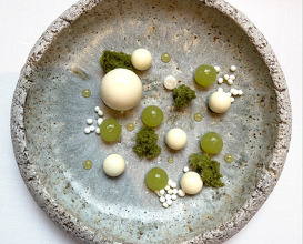 Cardamom spheres, apple & yoghurt