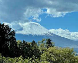 Ever changing view of Mount Fuji