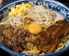 Dinner at らーめんしょっぷ 中吉